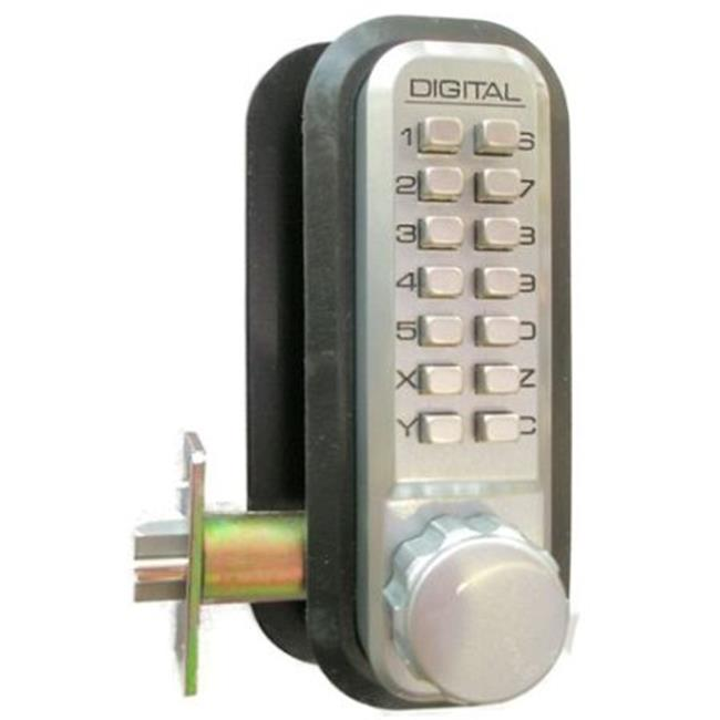 Lockey 2230-JB-DC-KO Mechanical Keyless Lock Janitor Function Double Sided Combination With Key Override - Jet Black