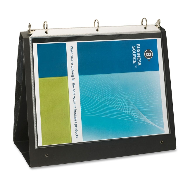 Business Source Presentation Binder, 1'' Capacity, 8-1/2''x11'', Black