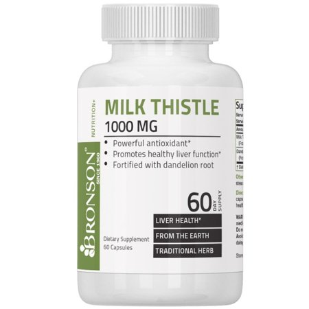 Milk Thistle 1000mg (Silymarin Marianum) with Dandelion Root High Potency Liver Health Support, 60 Capsules ()