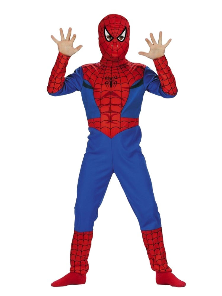 Marvel Comics Boys Spiderman Costume with Mask by