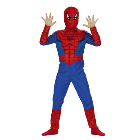 Marvel Comics Boys Spiderman Costume with Mask