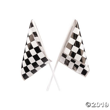 Plastic Racing Flags Bulk Novelty (6 dozen) - Bulk Flags