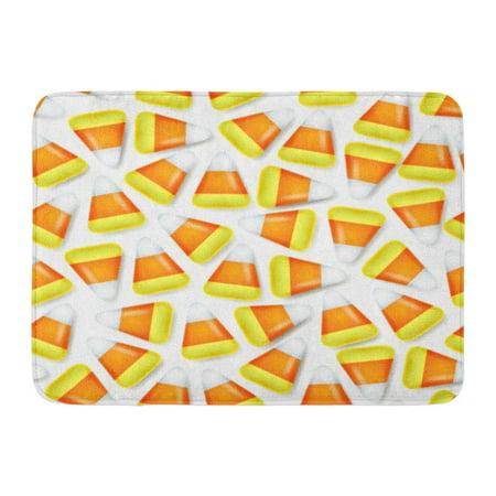 GODPOK Dessert Orange Autumn Candy Corn Sweets Halloween Symbol Yellow Celebration Festive Rug Doormat Bath Mat 23.6x15.7 inch (Festive Halloween Desserts)