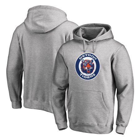 Detroit Tigers Fanatics Branded Big & Tall Cooperstown Collection Huntington Pullover Hoodie - Heathered Gray
