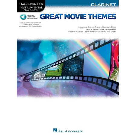 Hal Leonard Great Movie Themes For Clarinet   Instrumental Play Along  Book Online Audio