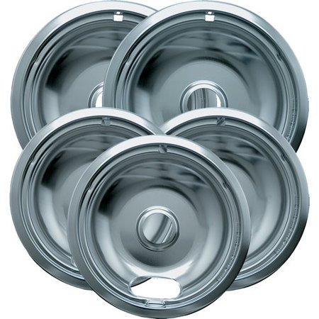 (Range Kleen Range Accessories 6 in. 3-Small and 8 in. 2-Large Drip Bowl Plated (5-Pack) 12565X)