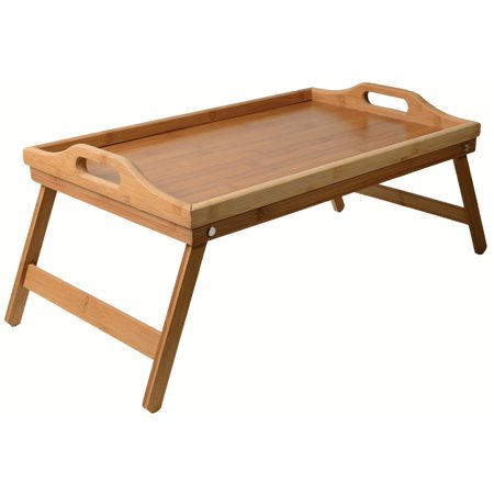 Bamboo Bed Tray Folding Leg Portable Breakfast Adjustable Table](Breakfast Bed Tray)