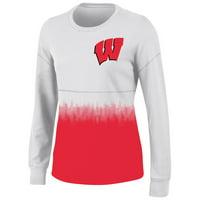 Women's White Wisconsin Badgers Oversized Fan Long Sleeve T-Shirt