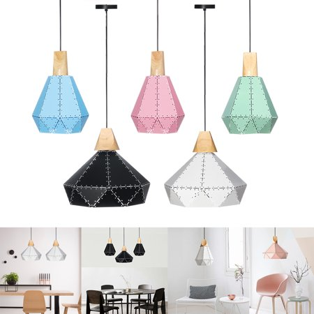 Muti-Color Vintage Ceiling Light Pendant  Holder Lamp Shade Modern Chandelier Fixture Home Decoration - Chandelier Decoration
