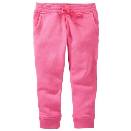 - OshKosh B'gosh Baby Girls' French Terry Pants, Pink, 6 Months
