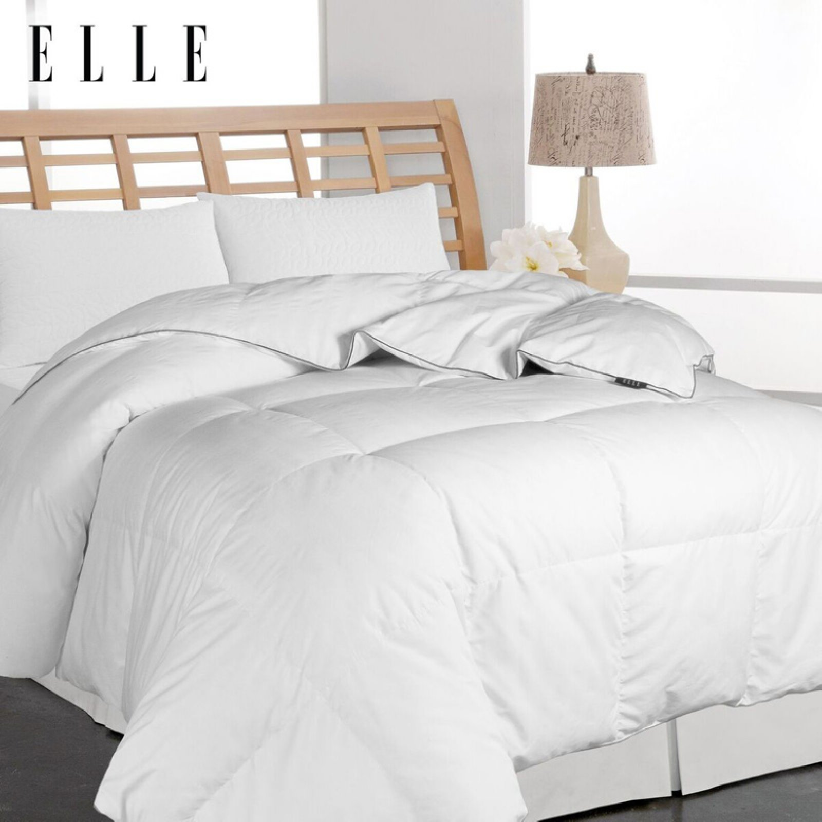Microfiber Down Comforter by Elle Home
