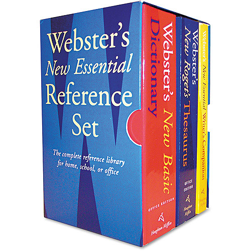 Houghton Mifflin Webster's New Essential Reference 3-Book Desk Set, Paperback