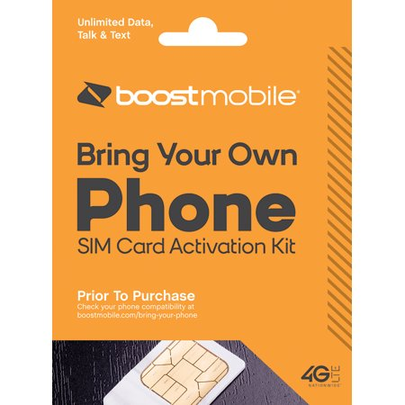 boost mobile sim card starter kit walmart