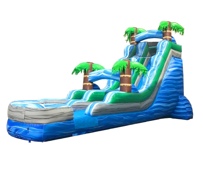 Pogo 18' Tropical Commercial Kids Jumper Inflatable Waterslide with Blower by Pogo Bounce House