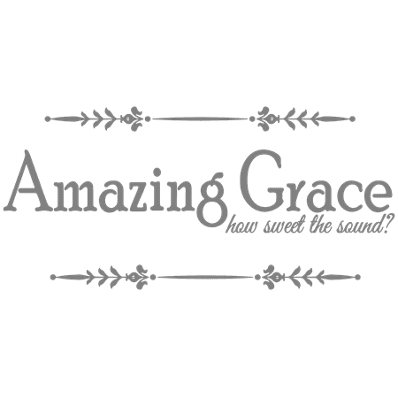 Amazing Grace how sweet the sound? Vinyl Decal Sticker Quote - Small - Gray - Sweet 16 Decorations Red And Black