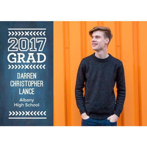 Modern Type Graduation Announcement