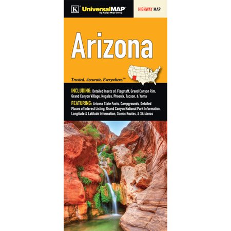 Universal Map Arizona Fold Map  Set Of 2