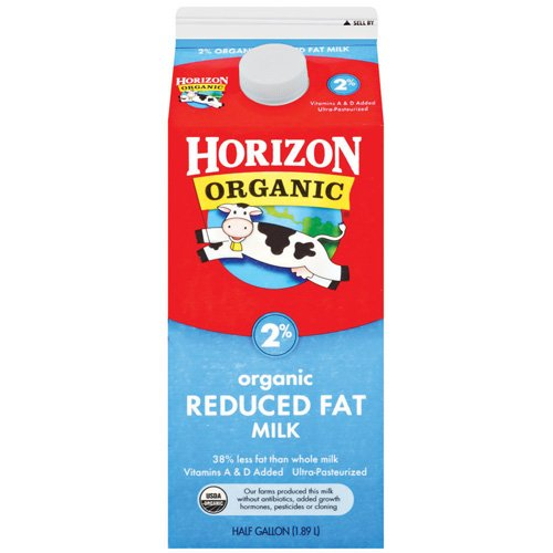 Horizon Organic 2% Reduced Fat Milk, .5 gal