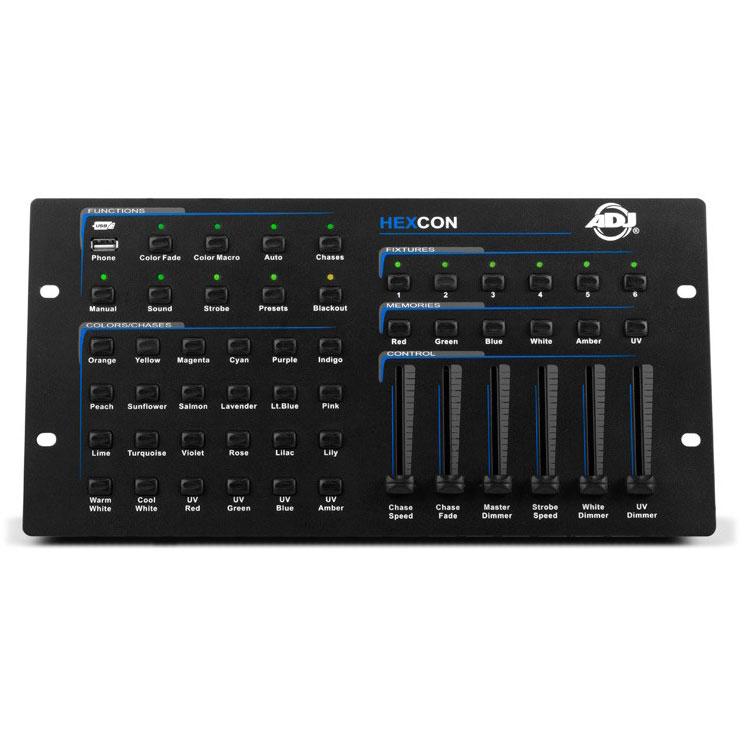 American Dj ADJ Products HEXCON HEX SERIE DMX controller, , 6 CHNL
