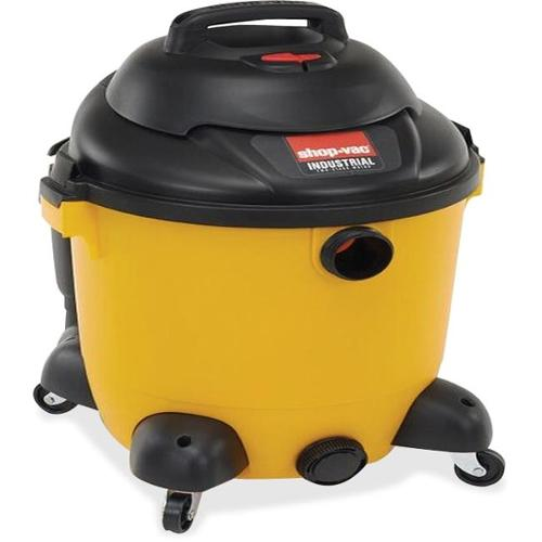"Shop-Vac Compact Vacuum Cleaner - 1.86 kW Motor - 280 W Air Watts - 12 gal - 14"" Cleaning Width - 35 ft Cable Length - F"