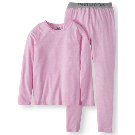 Girls Pajamas Size 7 (Fruit of the Loom Girls Core Performance Thermal)