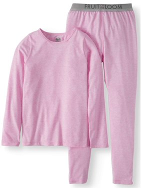 Fruit of the Loom Girls Core Performance Thermal Underwear Set (Little Girls & Big Girls)
