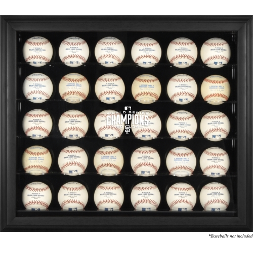 San Francisco Giants Fanatics Authentic 2014 World Series Champions Black Framed 30-Ball Display Case - No Size