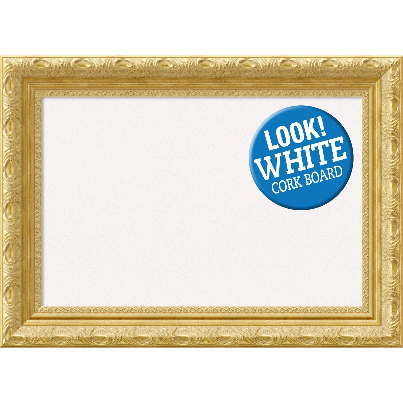 Amanti Art DSWVERCB2216 Versailles 22 Inch x 16 Inch Framed White Cork Board