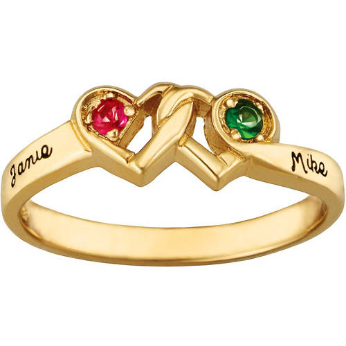 Keepsake Personalized Loving Couple's Ring with Birthstones