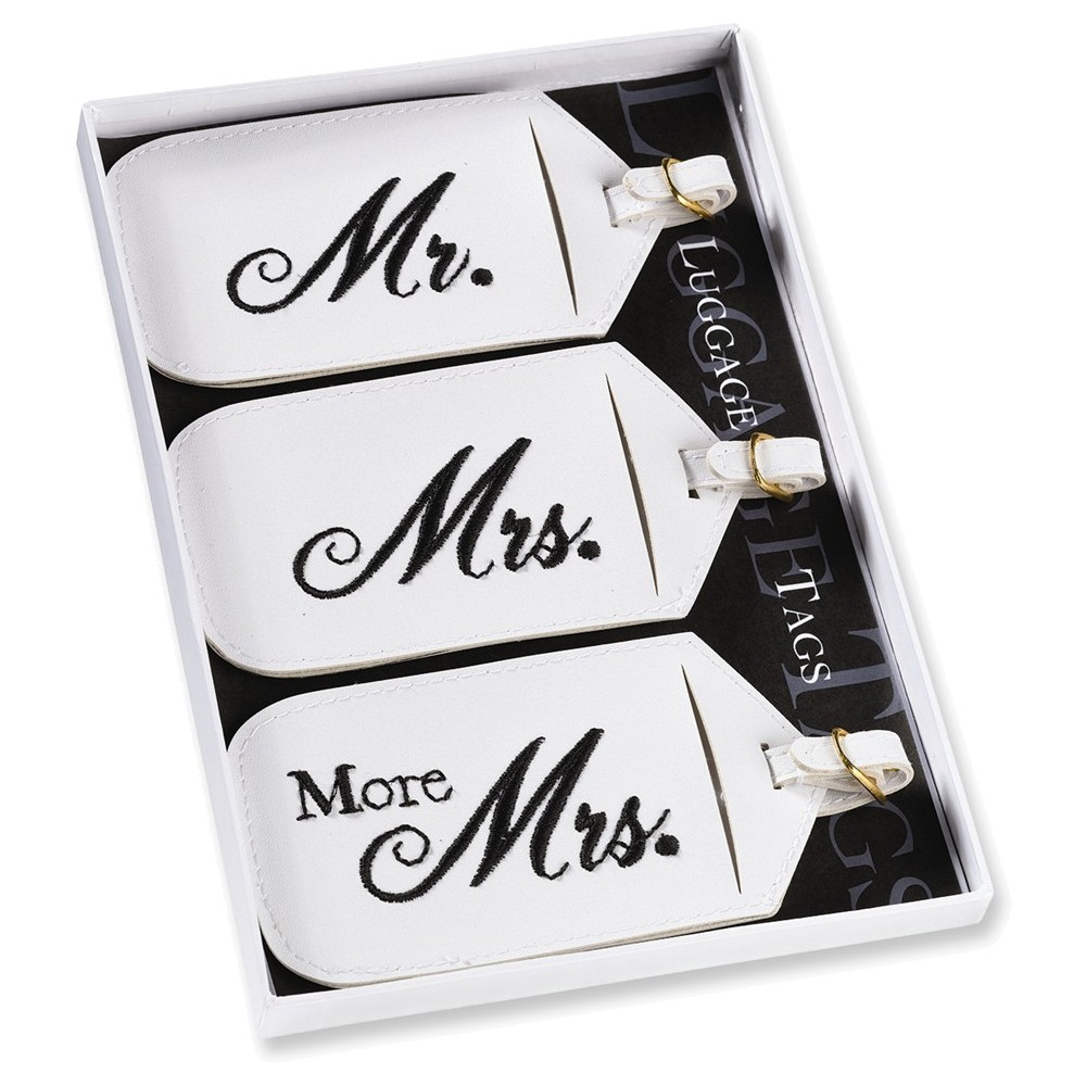 Set of 3 Mr. and Mrs. Luggage Tags