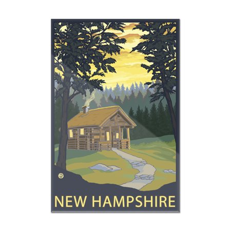 New Hampshire   Cabin Scene   Lantern Press Artwork  8X12 Acrylic Wall Art Gallery Quality