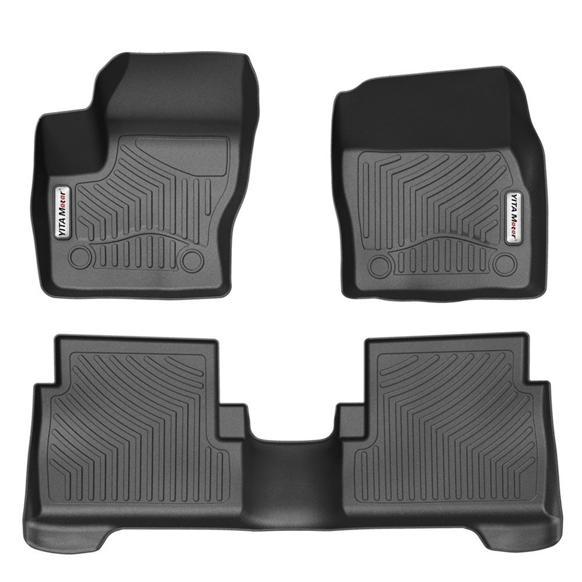 Car Floor Mats, Front and Rear 2 Rows Heavy Duty Rubber Floor liners Custom  Fit Vehicle 2015-2018 Ford Escape/2013-2018 C-MAX, All Weather/Season Floor  ...
