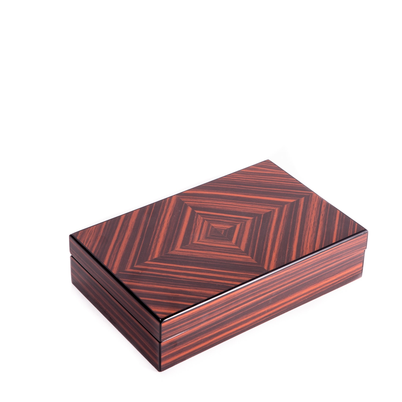 Bey Berk Lacquered Wood Valet Box Brown