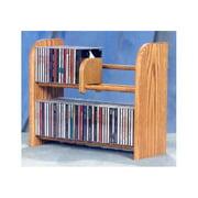 2 Row Dowel CD Rack (Honey Oak)