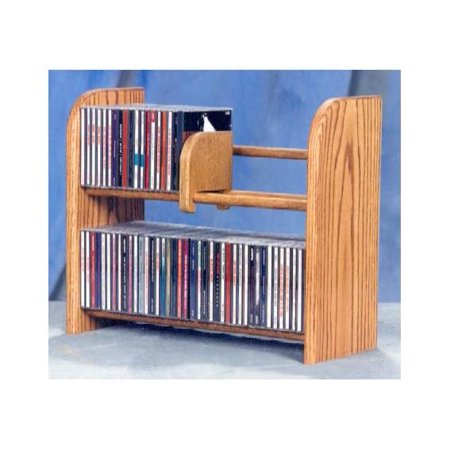 2 Row Dowel CD Rack (Honey Oak)