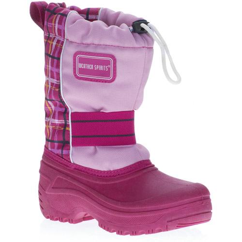 Weather Spirits Girls' Leanne Plaid Winter Snow Boots