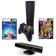 Refurbished Xbox 360 Slim 4GB Console with Sensor Kinect Adventures and Disneyland Games