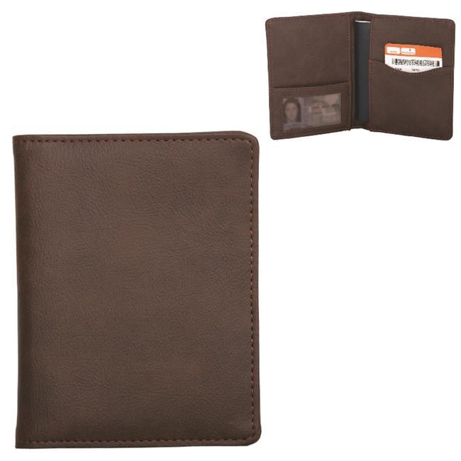 Debco BL8033 Premium Bonded Leather Passport Holder -  Brown  - image 1 of 1