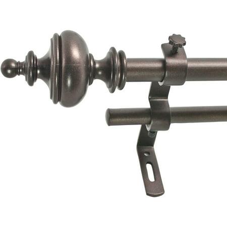 """Montevilla 5/8"""" Urn Double Curtain Rod Set"""