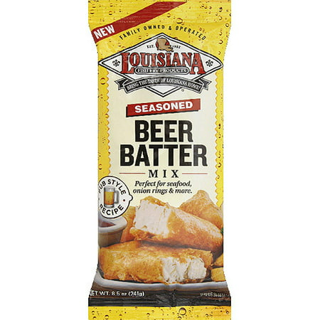 Louisiana fish fry products seasoned beer batter mix 8 5 for How to season fish for frying