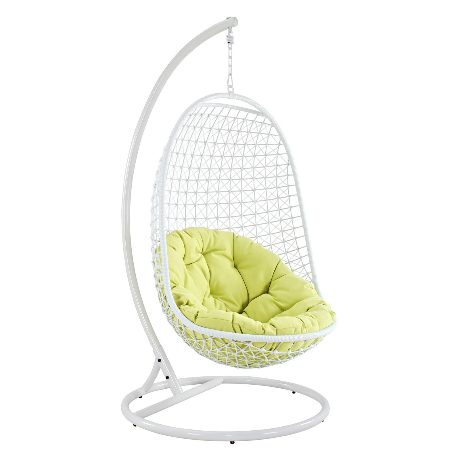 Modway Encounter Swing Outdoor Patio Fabric Lounge Chair In White