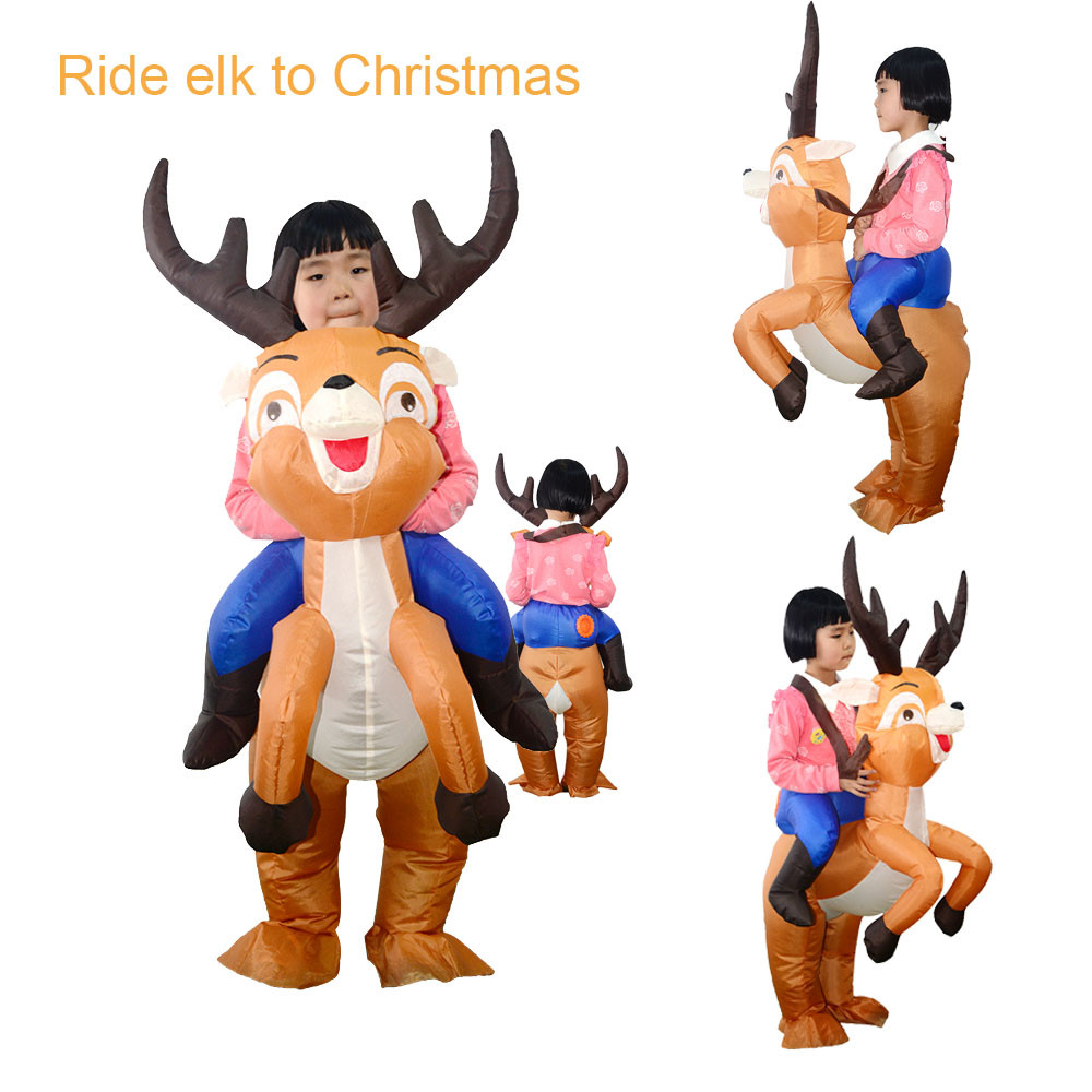 Party Uniforms Inflatable Carnival Funny Costumes Christmas Gifts Elk Cosplay