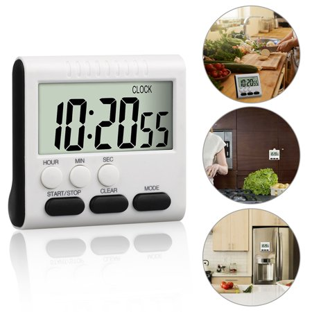 EEEKit Digital Cooking Timer, Large LCD Screen Kitchen Timer with Loud Beep, ON/OFF Switch, Strong Magnet Back, Count-Up & Count Down for Cooking Baking Sports Studying Games](Timer For Classroom)