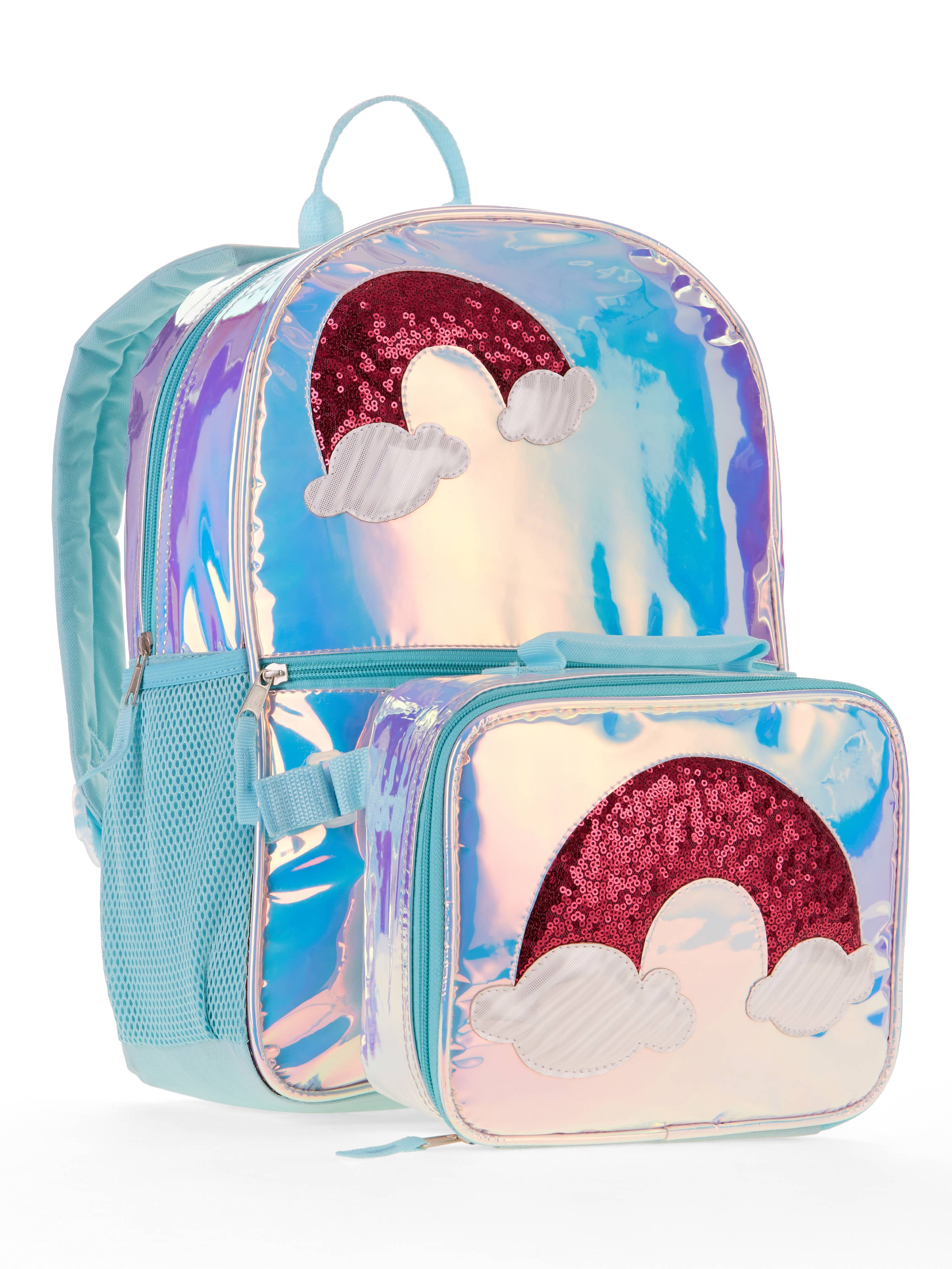Rainbow Backpack With Lunch Bag
