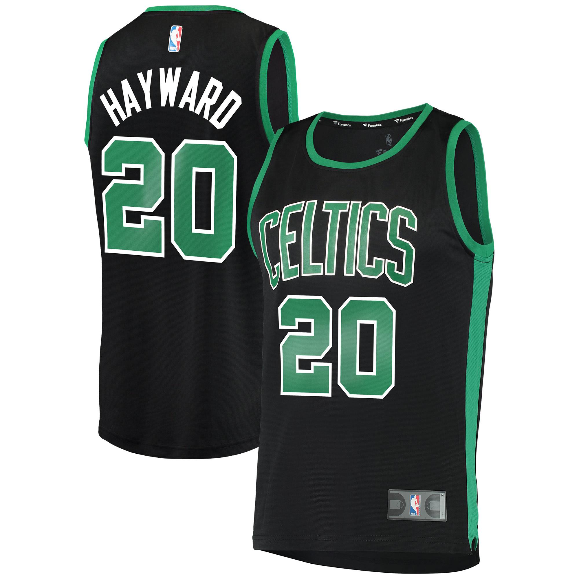 Gordon Hayward Boston Celtics Fanatics Branded Fast Break Replica Jersey Black - Statement Edition
