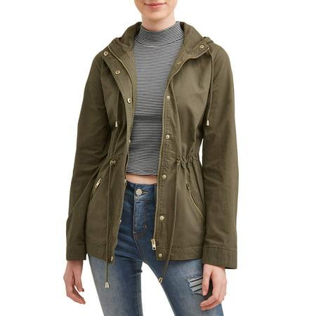 Juniors' Zip Up Pocket Front Hooded Anorak Jacket - Junior Varsity Jacket