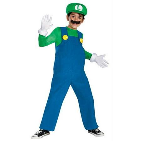 Morris Costumes DG67822K Mario Luigi Delxue Boys 7-8