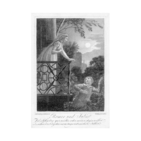 Balcony Scene from Romeo and Juliet Print Wall