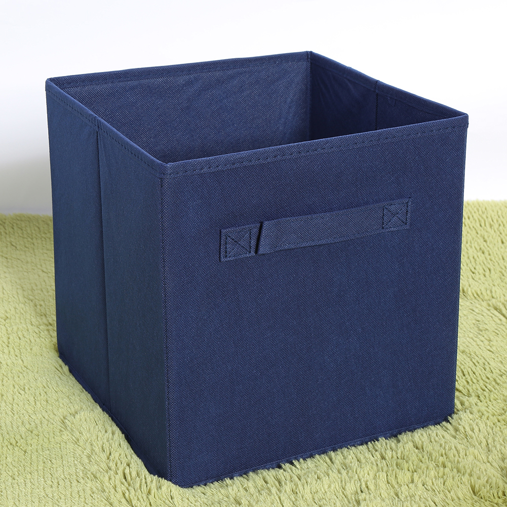 Foldable Lightweight Cube Storage Bins,Decorative Fabric Storage Storage  Cube Basket Bins Organizer For Clothes Or Kids Toy Storage Unit,6 Pack,Blue  ...