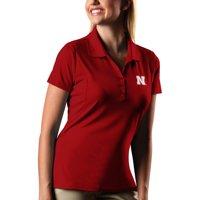 Nebraska Cornhuskers Antigua Women's Pique Xtra-Lite Polo - Scarlet